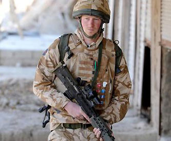 Prince Harry on service in Afghanistan