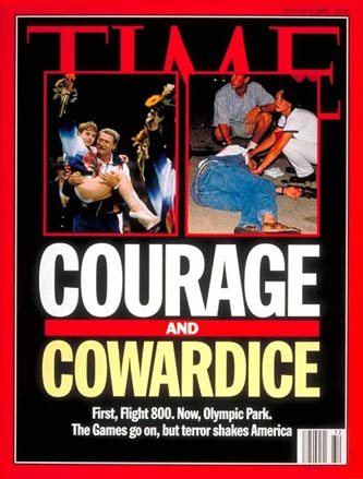1996 Time cover of the Atlanta Olympic bombing