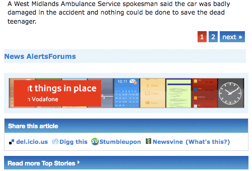 Birmingham Mail social bookmarking links