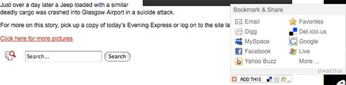 Evening Express AddThis widget