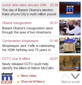 Obama video on the Manchester Evening News site