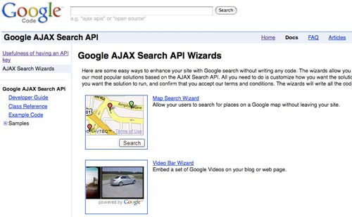 Google Ajax Wizards