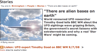 BBC Birmingham UFO article