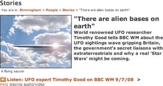 BBC Birmingham UFO article