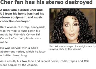 BBC Cher destruction story