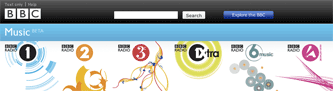 BBC Music Beta area