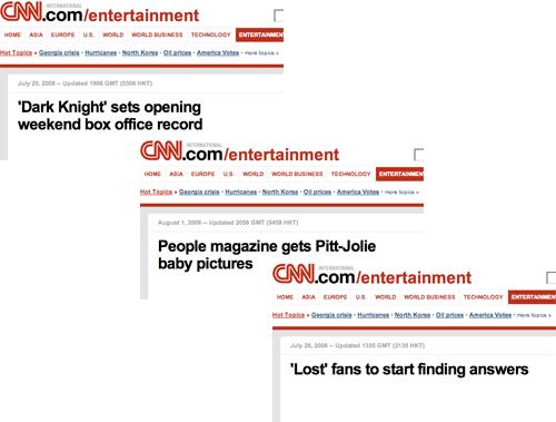 CNN showbiz stories