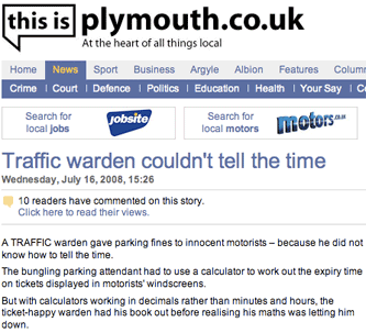 This Is Plymouth traffic warden story