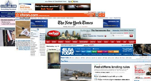 Social media contextual help on us newspaper websites for Online sites in usa