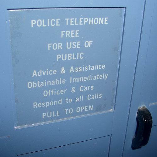 TARDIS door sign