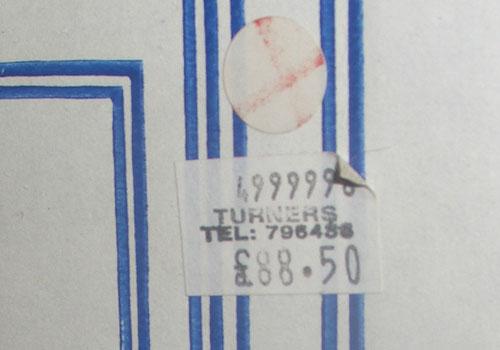 TARDIS price stickr