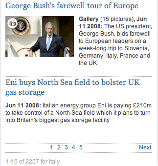 Guardian pagination