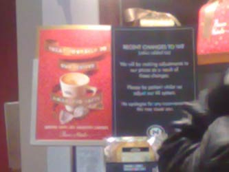 Cafe Nero VAT sign (blurry)