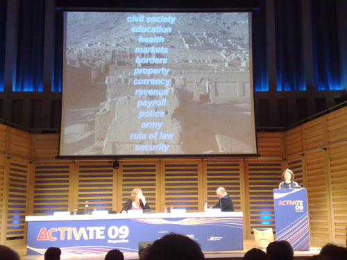 Clare Lockheart at the Activate 09 summit