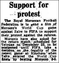 Moroccan protest in The Guardian