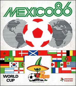 Cover of the 1986 Panini sticker album for the World Cup