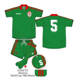 Morocco kit for the 1986 finals