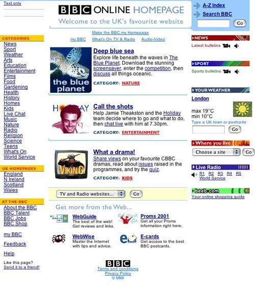 2000 Homepage