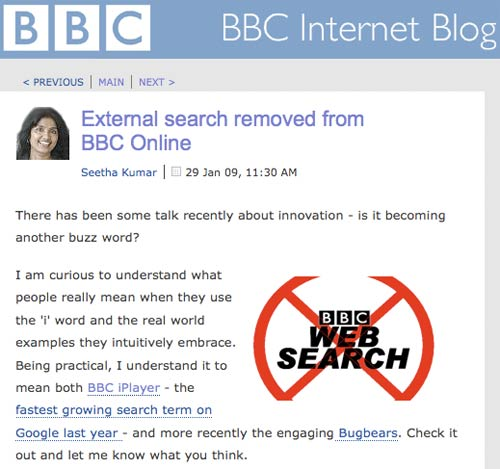 BBC Internet Blog post