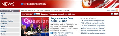 BBC News use their breaking news strap to plug BBC One