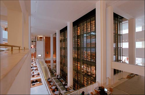 High view of the King's Library