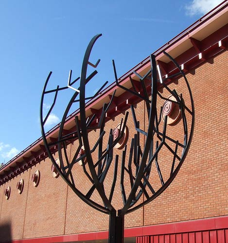 Sculpture in the British Library piazza