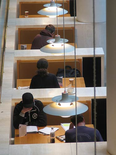 People working in the British Library