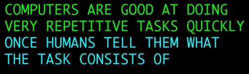Computers mantra