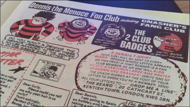 Beano Dennis Club