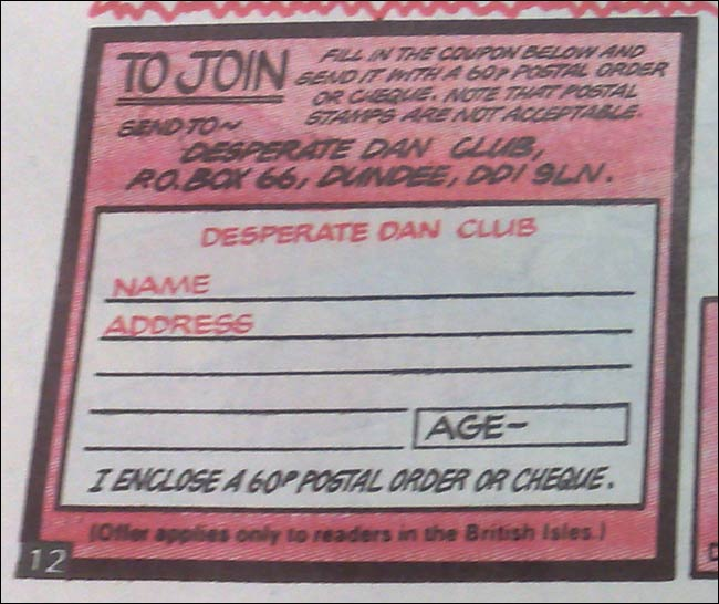 Dandy join club form