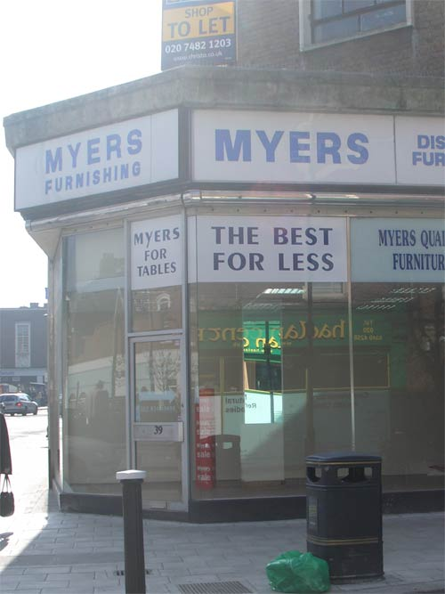 Myers corner unit in March 2009