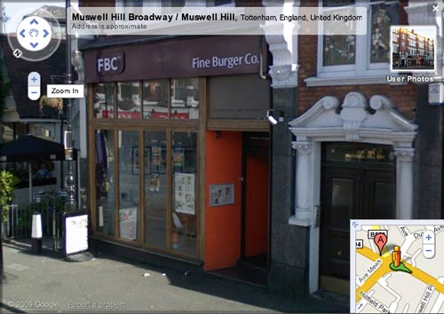 Fine Burger Co on Google Street View