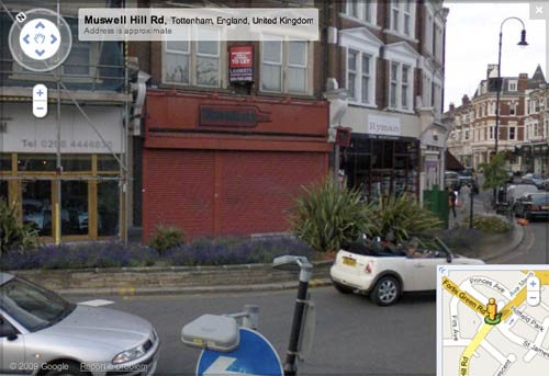 Closed Threshers on Google Street View