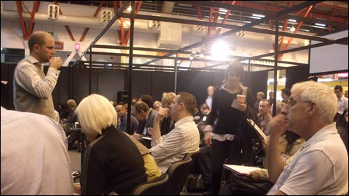 James Hamlin of Seatwave and his audience at the Ecommerce Expo