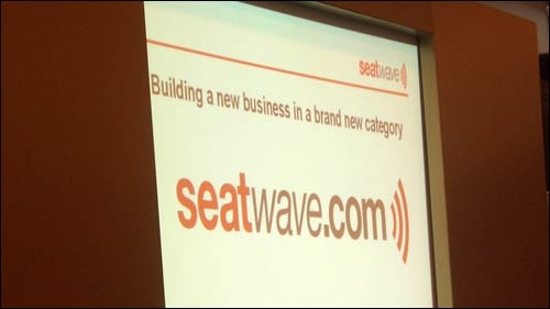 Seatwave title screen at the Ecommerce Expo