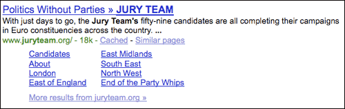 Jury Team Google search results