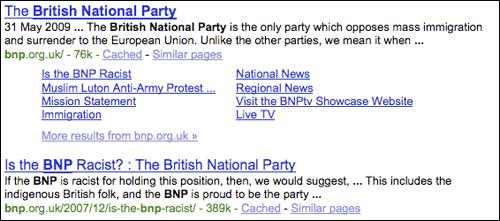Racist BNP