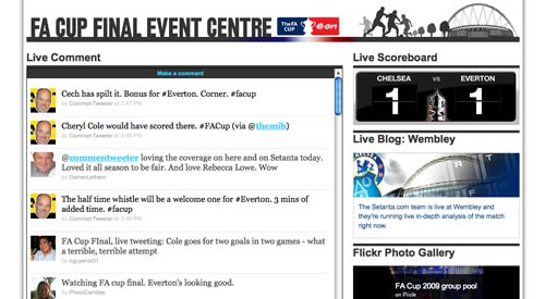 Setanta FA Cup Event centre