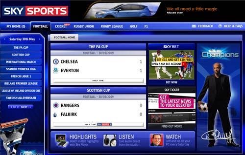 Sky Sports Match Centre
