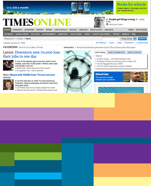 The Times online proportions