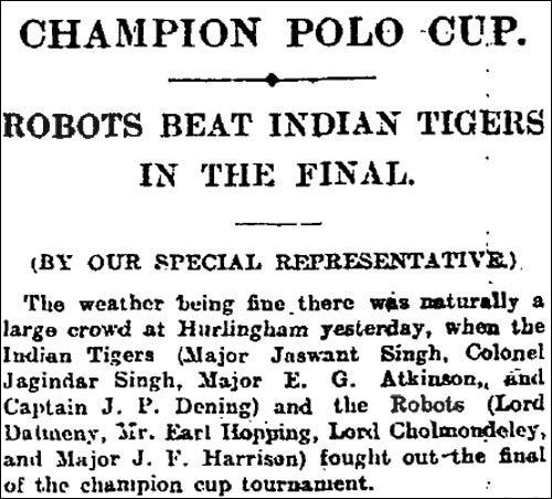 1923 Champio Polo Cup report