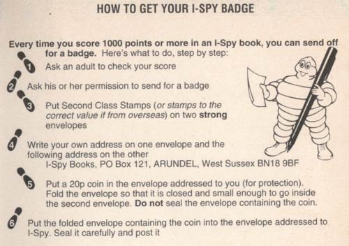 Back cover I-Spy badge offer instructions