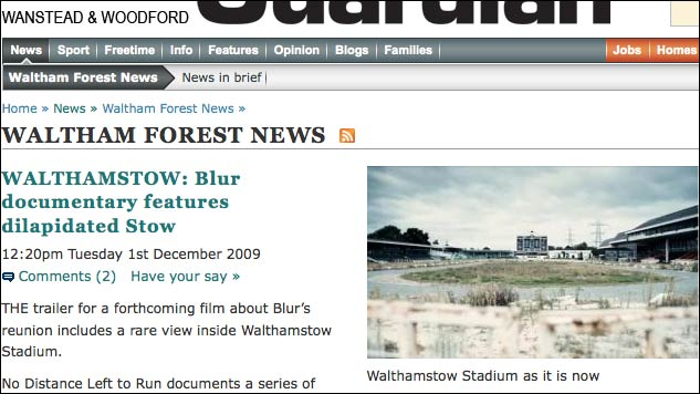 Abandoned Stow in the Waltham Forest Guardian