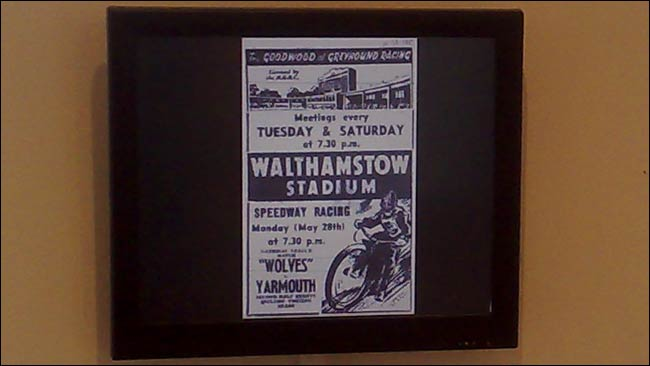 Speedway at Wlathamstow Stadium programe on display
