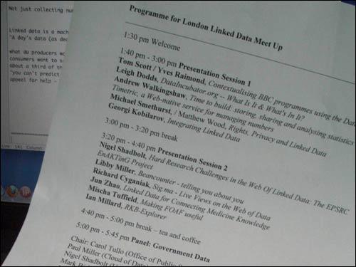 Linked Data meet-up programme