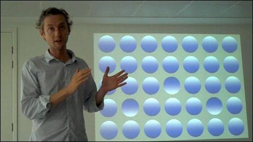 Tom Coombs and multi-coloured dots