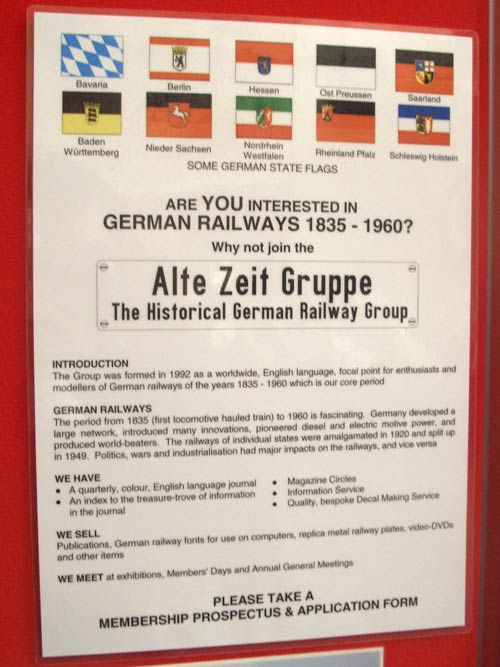 German Historical Railway society sign