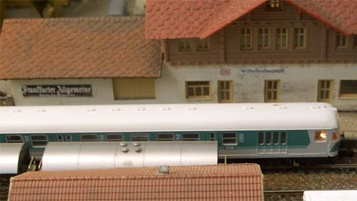 Model German station layout