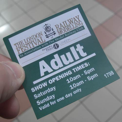 Festival of Railway Modelling ticket