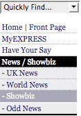 Express News & Showbiz category